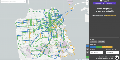 A screenshot of the MyStreetSF tool