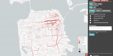 interactive map showing transit crowding