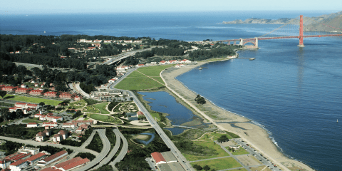 Artists rendering of the Presidio Parkway