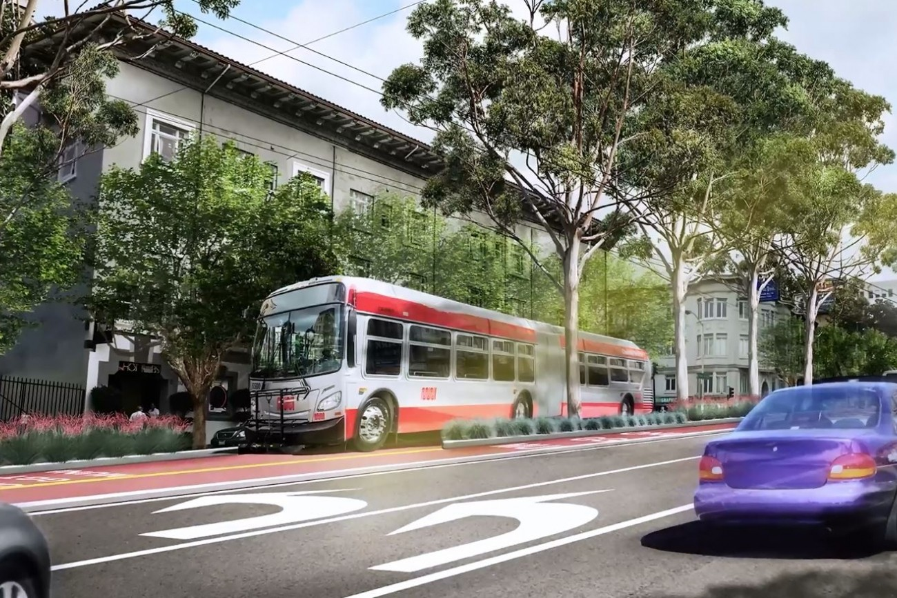 Rendering of Van Ness Bus Rapid Transit