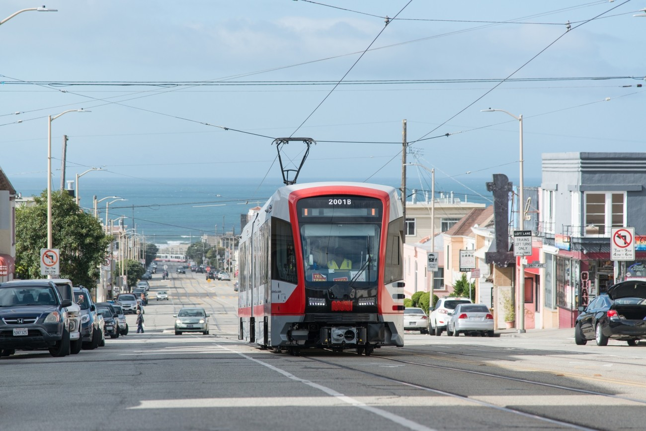 An image of a new light rail vehicle