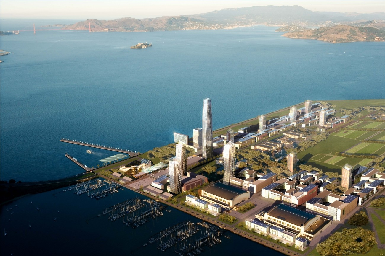 A rendering of the Treasure Island development