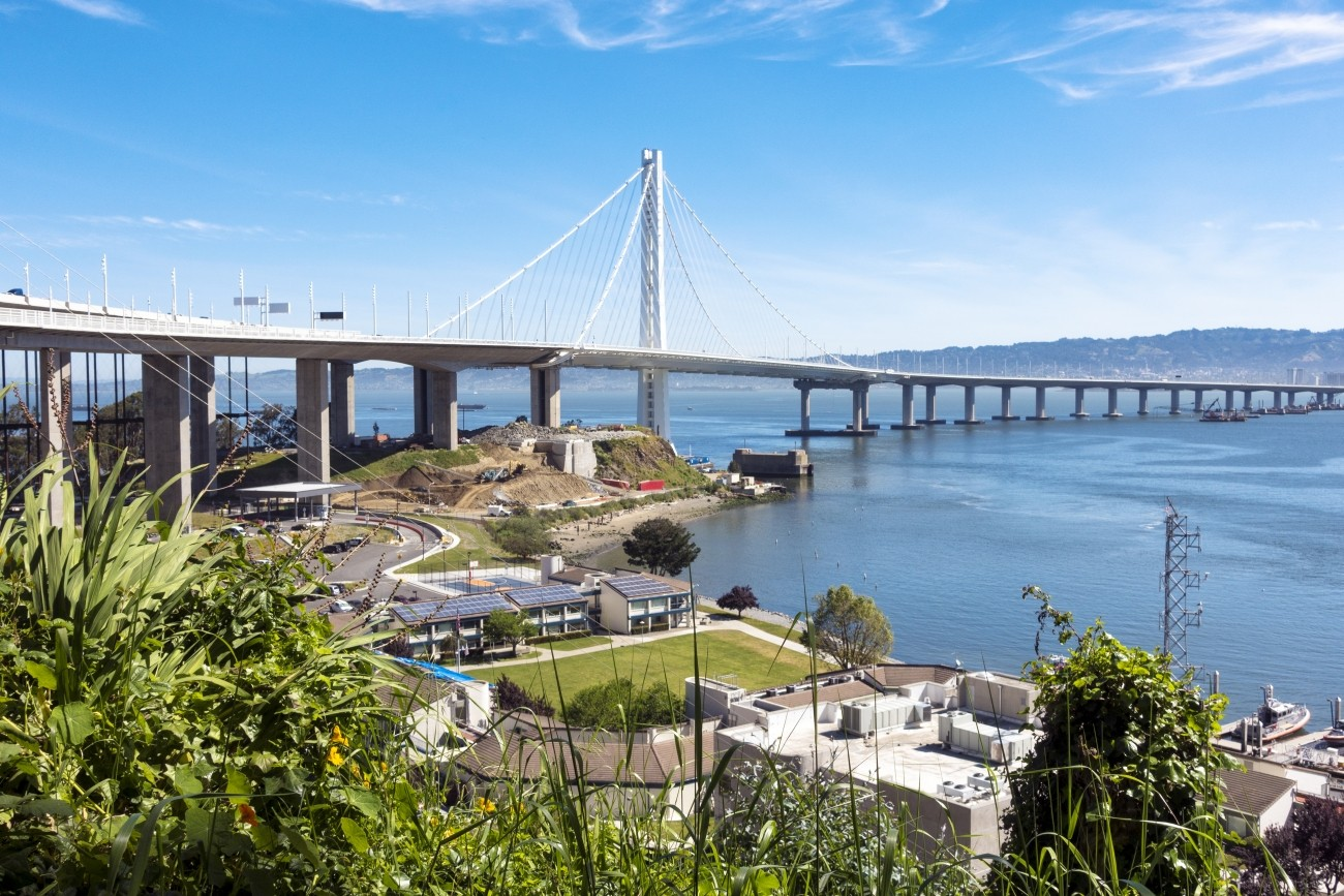 A view of the eastern span of the Bay Bridge from Vista Point