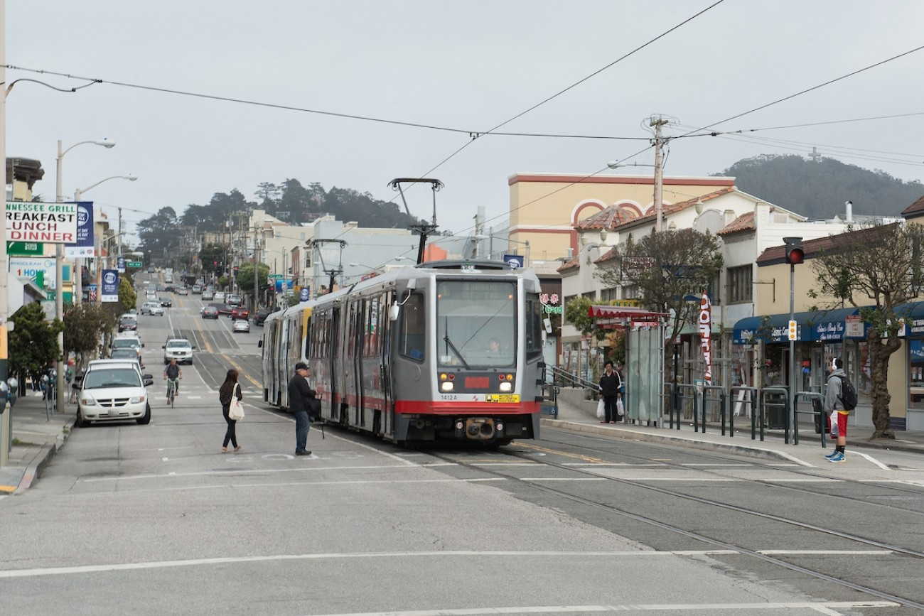 Passengers Loading and Unloading in Street on L Taraval Line