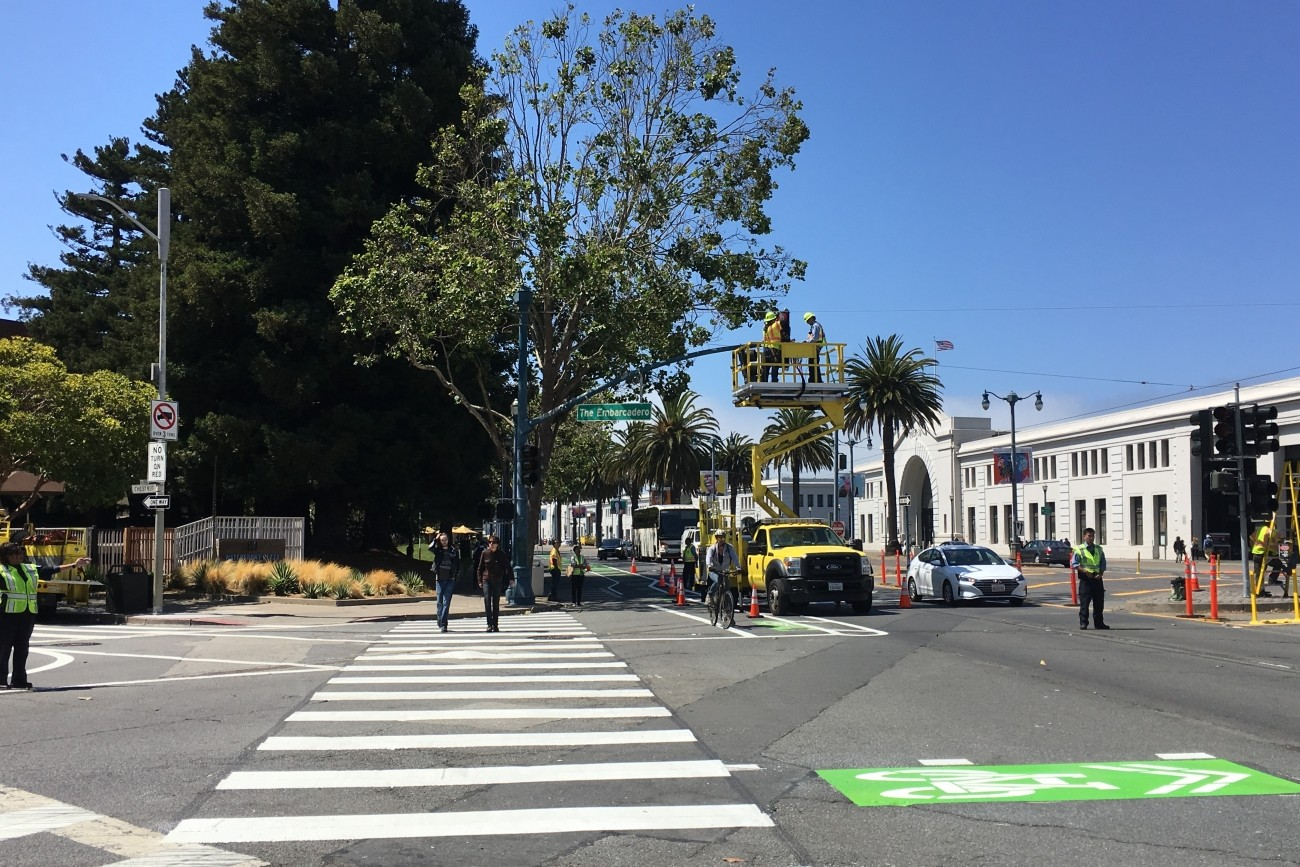 Photo of the Sansome and Battery Bicycle Connections Project