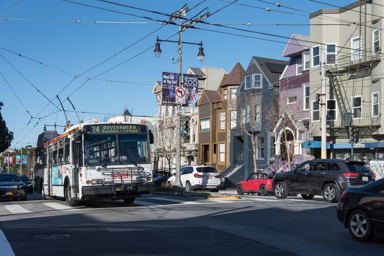 Photo of intersection improvements along Divisadero street.