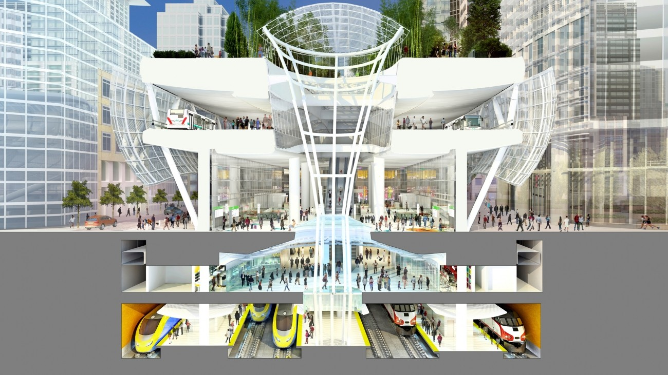 The levels of the Salesforce Transit Center