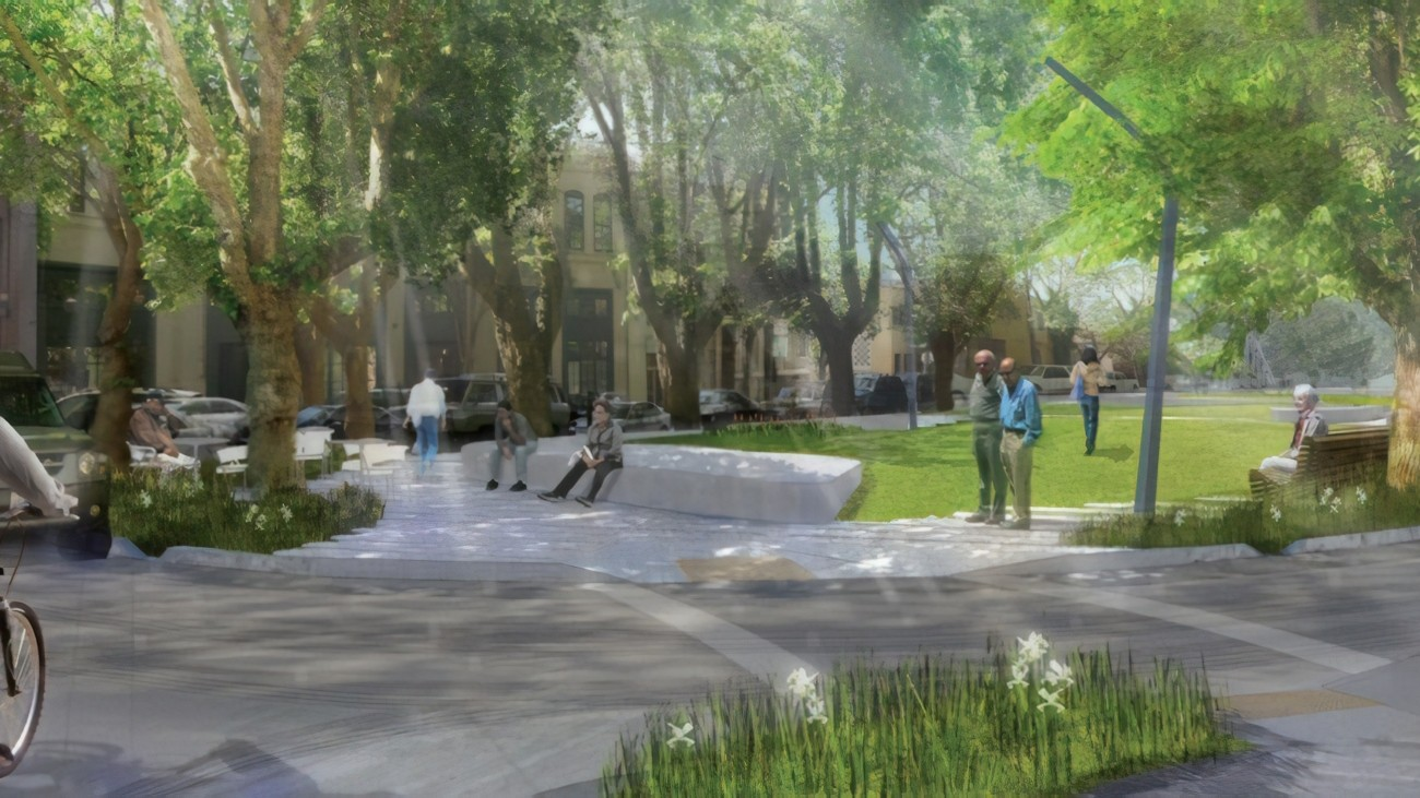 A rendering of the South Park Improvement Project
