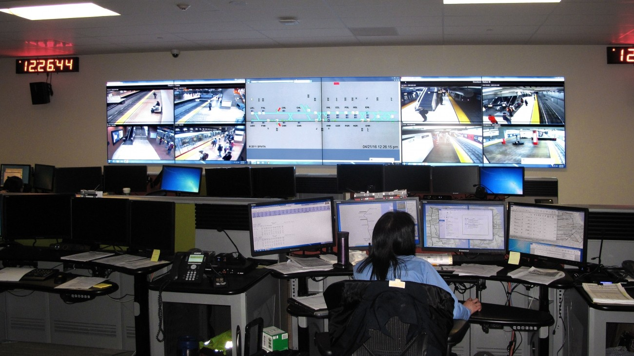 SFMTA's traffic control center