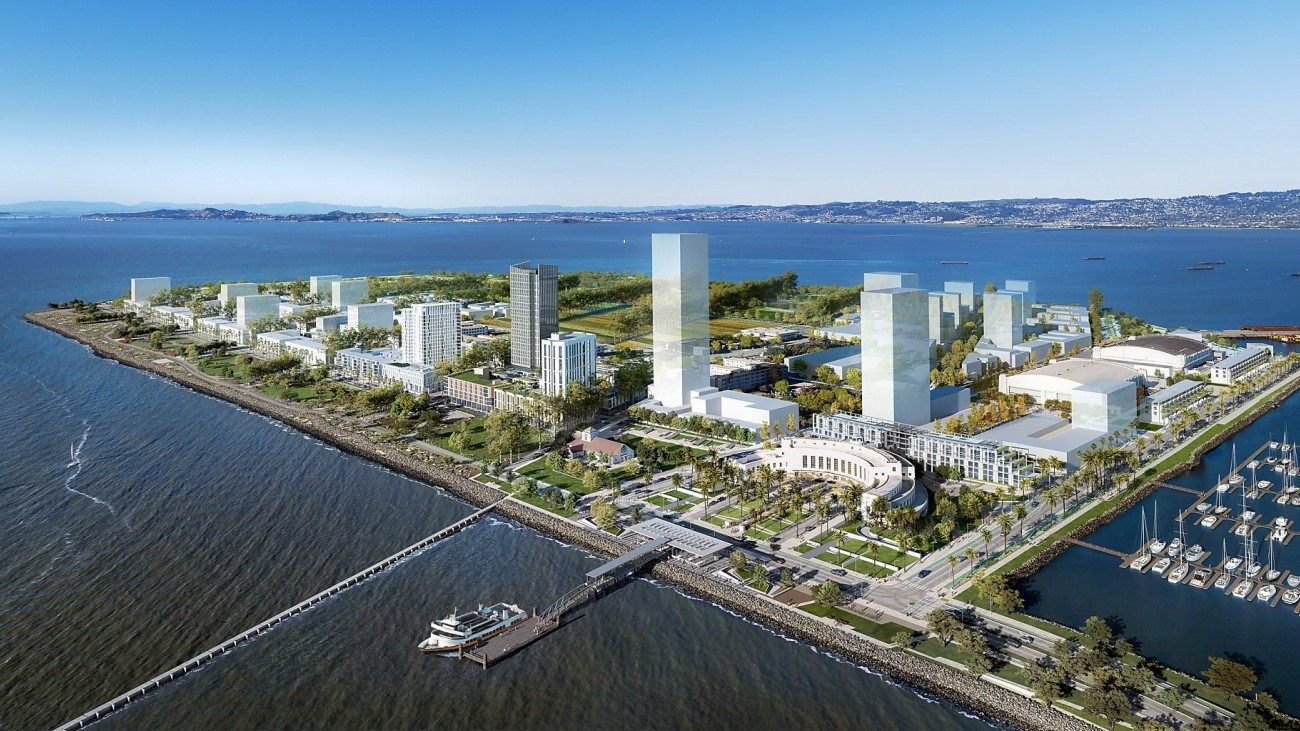 A rendering of the treasure island development plan