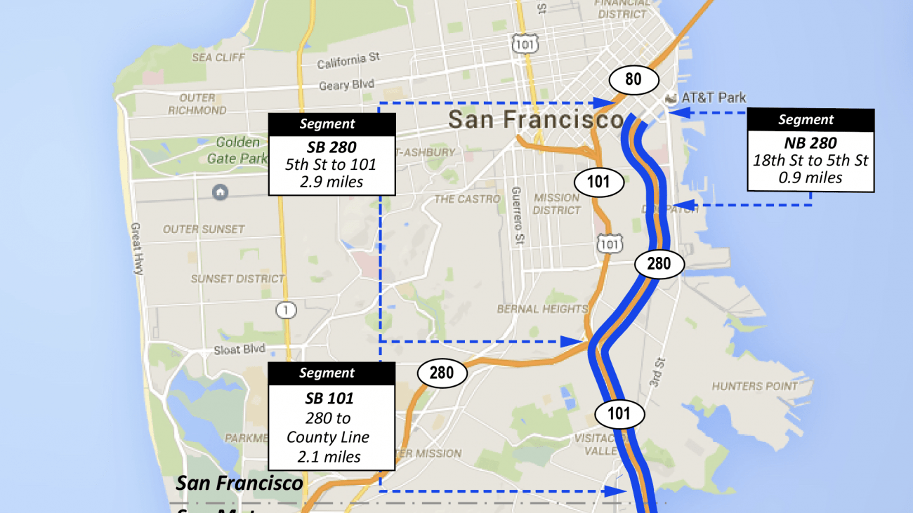 map of San francisco freeway
