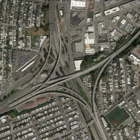 Aerial view of the interchange