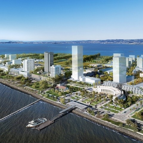 Rendering of the future Treasure Island
