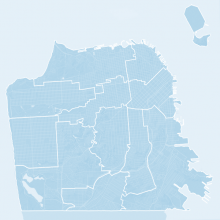 Map of San Francisco Supervisor Districts