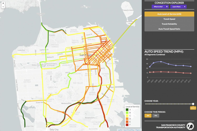 A screenshot of the map tool